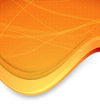Abstract banner with waves in orange color vector image vector image