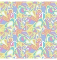 Abstract seamless pattern in pastel colors vector image