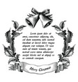 antique engraving of christmas black and white vector image vector image