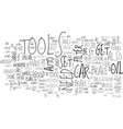 auto tools for the diy er text word cloud concept vector image vector image