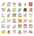 bakery and pastry shop related flat design icon