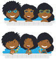 beautiful african american girls relaxing and vector image
