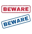 Beware Rubber Stamps vector image vector image