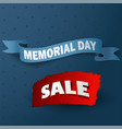big memorial day sale with ribbon vector image