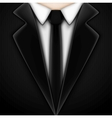 Black tuxedo with tie vector image vector image