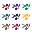 branch of olives icon in black style isolated on vector image vector image