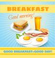 Breakfast classical poster vector image