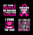 breast cancer quotes saying 100 best for print vector image vector image