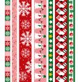 Christmas design border vector image vector image