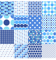 circular polka dots background texture vector image
