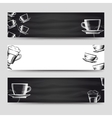 coffee and tea horizontal banners vector image vector image
