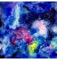 Cosmic watercolor background vector image vector image