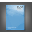 Cover report blue abstract background vector image vector image