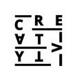 creative creativity font vector image vector image