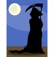 death at night cartoon vector image