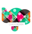 Dotted circles abstract background vector image vector image
