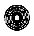 Enjoy Now rubber stamp vector image
