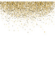 falling gold sequins vector image