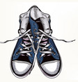 fashion background with sports boots sneakers vector image vector image
