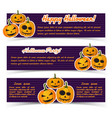 Festive halloween holiday horizontal banners