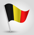 flag belgium vector image vector image