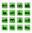 Flat Icon set of distribution warehouse and vector image vector image