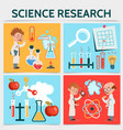flat science research concept vector image vector image