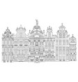 grand place in brussels belgium vector image
