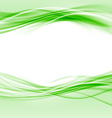 Green smooth swoosh eco border abstract layout vector image vector image
