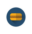 hamburger icon fast food street meal concept vector image vector image