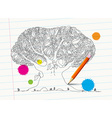 Hand Drawn Tree on Notebook Paper with Pencil and vector image vector image