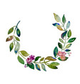 handmade circle wreath watercolor branch with vector image vector image