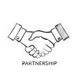 Handshake Stock vector image vector image