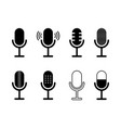 icon microphone podcast symbol for speak vector image vector image