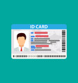 id card identity card vector image