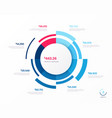infographic round chart template eight vector image vector image