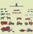 Infographics on a theme farm vector image vector image