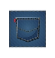Isolated denim frame design vector image vector image