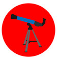 isolated telescope icon vector image vector image