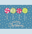 merry christmas greeting card design template vector image vector image