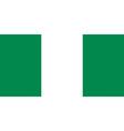 nigerian flag vector image vector image