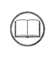 Open book icon with hand drawn lines texture vector image vector image
