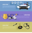 Police Horizontal Banners Set vector image vector image