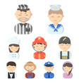 profession set icons in cartoon style big vector image vector image