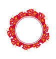 red canna lily banner wreath vector image vector image