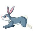 running blue happy rabbit vector image vector image