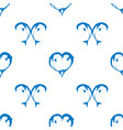 seamless pattern of two bouncing dolphin couple vector image