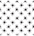 Seamless pattern with paint spots ink splashes vector image