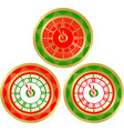 set of round clocks vector image vector image