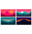 set poster template with wild mountains vector image vector image